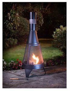 Jardin Deluxe bûches Brûleur Foyer et cheminée chauffage d'extérieur Noir 120cm de la marque eShop4U image 0 produit