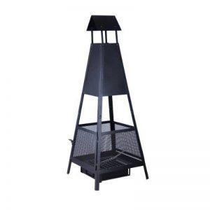 Kamino-Flam Brasero d'Extérieur en Forme de Pyramide Despina, Cheminée de Jardin Terrasse Balcon en Acier Noir, Foyer Extérieur avec Pare-Étincelles et Bac à Cendres 49 x 49 x 131 cm de la marque Kamino-Flam image 0 produit