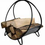 Khevga Panier en bois de cheminée métal noir moderne rond de la marque khevga Panier à bûches de cheminée en métal noir moderne rond image 1 produit