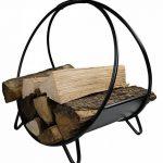Khevga Panier en bois de cheminée métal noir moderne rond de la marque khevga Panier à bûches de cheminée en métal noir moderne rond image 2 produit