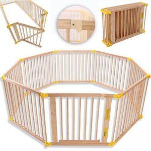 KIDUKU® Barrière de sécurité Parc bébé XXL 7,2 mètres, pliant, porte inclus, à 8 pièces, forme individuelle selon votre choix de la marque KIDUKU image 0 produit