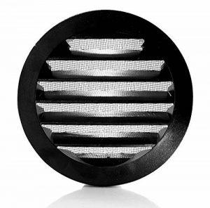Klimapartner WSGB 125 - Grille de Ventilation Noir, Ronde et Plate Avec Moustiquaire de la marque Klimapartner image 0 produit