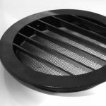 Klimapartner WSGB 125 - Grille de Ventilation Noir, Ronde et Plate Avec Moustiquaire de la marque Klimapartner image 1 produit