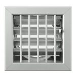 La ventilation gcsial1615120-y Grille encastrable pour cheminées, aluminium, 160x 150mm de la marque La Ventilazione image 1 produit