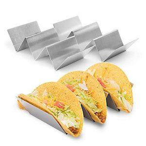 Lot de 2style pleine acier inoxydable Taco Support Taco Stand, Récipient à dents type, barres Poignées Four Coffre-fort pour la pâtisserie, lave-vaisselle de la marque image 0 produit