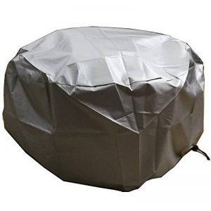"""LU2000 Housse ronde pour foyer d'extérieur, Foyer de protection Housse de pluie, imperméable de protection UV Housse de pluie, journal Brûleur Coque – Argent 44""""D de la marque LU2000 image 0 produit"""
