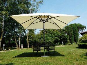 Maffei Art 139q Kronos parasol TELESCOPIQUE carré cm 300x300, tissu PolyMA imperméable, Made in Italy. Coluleur ecru. de la marque Maffei image 0 produit