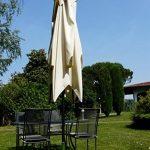 Maffei Art 139q Kronos parasol TELESCOPIQUE carré cm 300x300, tissu PolyMA imperméable, Made in Italy. Coluleur ecru. de la marque Maffei image 3 produit