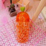 Majome 400ml Plastique Tasse Boisson Bouteille avec Paille double couche d'été Glace durable pour l'eau Café de la marque Majome image 2 produit