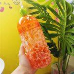 Majome 400ml Plastique Tasse Boisson Bouteille avec Paille double couche d'été Glace durable pour l'eau Café de la marque Majome image 3 produit
