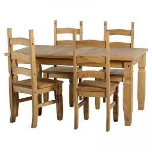 Mercer's Furniture Corona mexicaine pin ciré vieilli 5de Salle À Manger–Table et 4chaises de la marque Corona image 0 produit