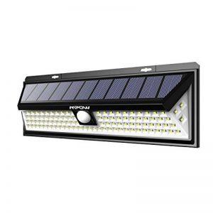 Mpow 102Lampes solaires LED Détecteur de mouvement, Super Lumineux appliques murales, 3modes d'éclairage en option, grand panneau solaire, 120° Angle de détection, résistant aux intempéries, Excellent Outdoor Lights pour jardin, allée, chemin de la mar image 0 produit