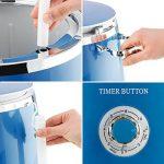 OneConcept Ecowash-Pico • machine à laver • mini-lave-linge • lave-linge de camping • ouverture sur le dessus • essorage • capacité 3.5 kg • 380 Watt • économie d'énergie et d'eau • minuterie • bleu de la marque OneConcept image 5 produit