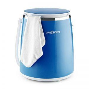 OneConcept Ecowash-Pico • machine à laver • mini-lave-linge • lave-linge de camping • ouverture sur le dessus • essorage • capacité 3.5 kg • 380 Watt • économie d'énergie et d'eau • minuterie • bleu de la marque OneConcept image 0 produit