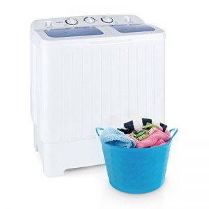 oneConcept Ecowash XL • Machine à laver • Mini lave-linge • avec essoreuse • Capacité de lavage de 4,2 kg • puissance de lavage 300 W • Capacité d'essorage de 3 kg • Puissance d'essorage 110 W • blanc de la marque OneConcept image 0 produit