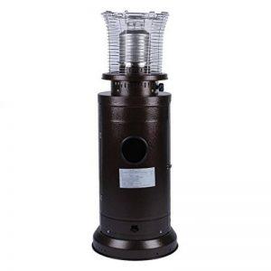 OUTAD Chauffage au gaz Acier Inoxydable Chauffage de Terrasse Spot Plein Air avec Réglage de Régulation, 13,5 kW Sécurité Anti-Basculement (Marron) de la marque OUTAD image 0 produit