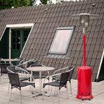 outTrade GH12RED Chauffage de terrasse à gaz Rouge de la marque outTrade image 2 produit