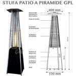 Parasol chauffant électrique professionnel d'extérieur en forme de pyramide, à fonctionnement gaz GPL, avec roues, pour bouteille de 15kg - flamme libre de la marque professional image 1 produit