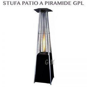 Parasol chauffant électrique professionnel d'extérieur en forme de pyramide, à fonctionnement gaz GPL, avec roues, pour bouteille de 15kg - flamme libre de la marque professional image 0 produit