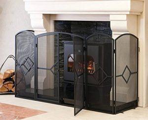 Pare-feu large pour cheminée ou poêle, hauteur ~81cm (153.67cm (l) x 60.9cm (P) x 81.28cm (H)) de la marque Crannog image 0 produit