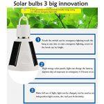 Pawaca Alimenté par panneau solaire ampoule LED, à suspendre, lumière solaire portable étanche lumière d'urgence ampoule pour une utilisation en intérieur et en extérieur, jardin, la randonnée, le camping–Blanc de la marque Pawaca image 4 produit