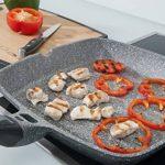 Poêle grill en pierre avec manche amovible - 28cm x28 cm poêle à steak/légumes Poêle Coninx Stone - pour tous feux, inclusif l'induction - poignée détachable - garantie 3 ans - 100% libre de PFOA de la marque Coninx® image 4 produit
