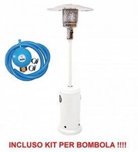 Poêle à champignon blanc Réchauffeur avec Parabole supérieur et compartiment porte bouteille + Kit régulateur avec tube de la marque ALTIGASI image 0 produit