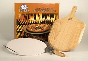 Premium Kit pierre à pizza de falkes pour four et grill. Peut également servir ou pain. Avec planche à pizza roulette à pizza et pierre à pizza Support. Des Pizzas à comme en Italie. de la marque falkes image 0 produit
