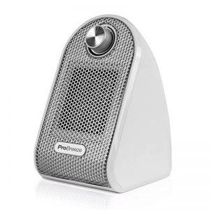 Pro Breeze® Mini Radiateur Soufflant Compact pour Les Bureaux et Les Tables - Chauffage d'appoint Céramique PTC, Blanc de la marque Pro Breeze image 0 produit