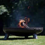 RedFire Salo–Metal Fire Pit 80cm, Industrial Look, 80x 80x 24cm, 81020 de la marque RedFire image 3 produit