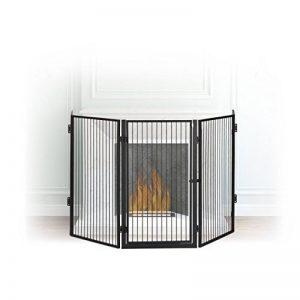 Relaxdays Barrière de sécurité pare-feu de cheminée grille enfant métal 5 pièces en acier, noir de la marque Relaxdays image 0 produit