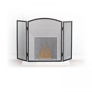 Relaxdays Pare-étincelles cheminée acier barrière sécurité pare-feu protection grille 3 pièces HxL 62 x 96 cm, noir de la marque Relaxdays image 0 produit