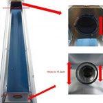 Remplacement du Tube de verre pour le chauffage de patio de gaz Pyramide de la marque BU-KO image 1 produit