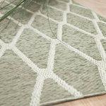 Scala - Tapis d'intérieur et d'extérieur chenille plat tissé - vert beige motif géométrique - 5 tailles disponibles de la marque interiortrend image 1 produit