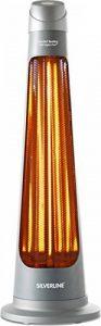 SILVERLINE S-26142 Chauffage de Terrasse électrique Télécommandé 1200 W IPX4 Digital Gris de la marque Silverline image 0 produit