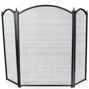 Simpa® Oakley 3panneaux pliable Cheminée Cheminée Guard écran de cheminée Spark Pare-flamme incurvé Top 3panneaux Design pliable, Noir de la marque Simpa® image 0 produit
