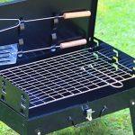 SunJas Barbecue Barbecue à charbon,BBQ Barbecue Four de Charbon Portable Standgrill Portable BBQ Charbon Pliable Robuste Barbecue grill Charbon (Barbecue Charbon) de la marque Sunjas image 5 produit