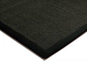 Tapis de salon moquette Carpet classique Design BORDERED SISAL RUG 100% Sisal mit Bordüre Baumwolle 200x300 cm rectangle Noir | Tapis acheter en ligne pas cher de la marque Kadimadesign image 0 produit