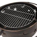 Trueshopping Astral Jardin/Terrasses Brasero avec grille de barbecue et detaliertem Design Lune et étoiles. de la marque Trueshopping image 3 produit