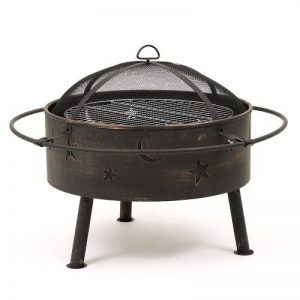 Trueshopping Astral Jardin/Terrasses Brasero avec grille de barbecue et detaliertem Design Lune et étoiles. de la marque Trueshopping image 0 produit