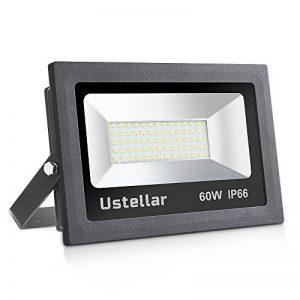 Ustellar 60W Projecteur LED Exterieur, IP66 Etanche, 4800lm, Lampe Projecteur Mural, 5000K Blanc, Eclairage de Sécurité, Lumière Spot pour Mur Jardin Terrasse, Remplacer Ampoule Halogène 300W de la marque Ustellar image 0 produit