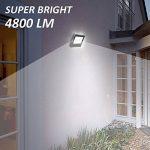 Ustellar 60W Projecteur LED Exterieur, IP66 Etanche, 4800lm, Lampe Projecteur Mural, 5000K Blanc, Eclairage de Sécurité, Lumière Spot pour Mur Jardin Terrasse, Remplacer Ampoule Halogène 300W de la marque Ustellar image 4 produit