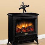 Ventilateur électrique pour cheminée Poêles à bois Poêles / Foyers, 4 pales de rotor Ventilateur de cheminée Ventilateur de fournaise (noir) ---- Yacool de la marque Yacool® image 1 produit