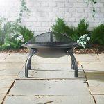 VonHaus Brasero / Cheminée de Jardin Barbecue Portable + Housse de Transport – 56 x 39 cm de la marque Vonhaus image 2 produit