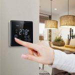 WELQUIC Thermostat d'Ambiance Numérique Programmable à Grand Ecran Tactile LCD Rétroéclairé pour Réglage Chauffage Electrique, 85-250VAC 50/60HZ (Noir) de la marque WELQUIC image 2 produit